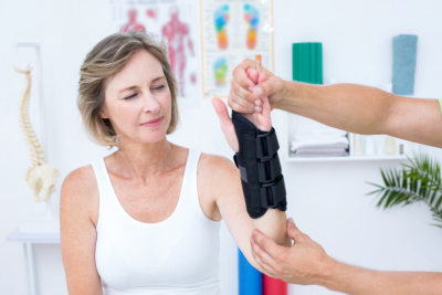 Woman doing Physical Therapy